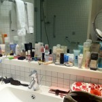 Inside the Model's Hotel Bathroom…