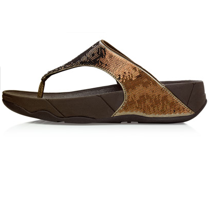 Bronze Sequin Fitflops