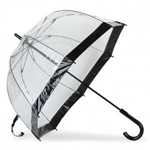 FULTON Birdcage black umbrella