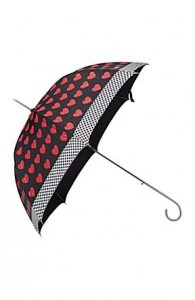 MOSCHINO CHEAP & CHIC Romance Heart Automatic Walker Umbrella