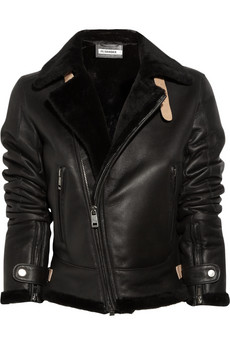Jil Sander Shearling Aviator Jacket