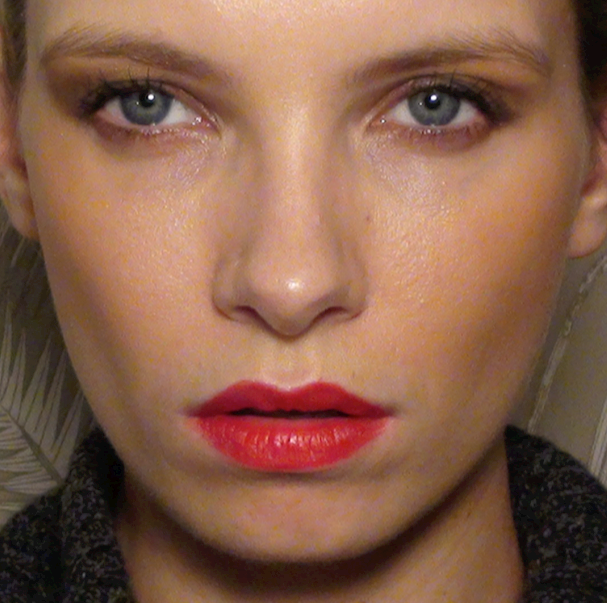 Model in Red Lipstick