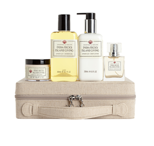 India Hicks Spider Lily Vanity Case Crabtree & Evelyn