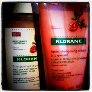 colour treated hair care klorane