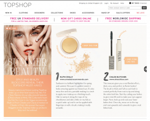 topshop beauty tips