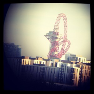 Olympic Park through Binoculars