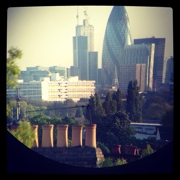 The Gherkin through Binoculars