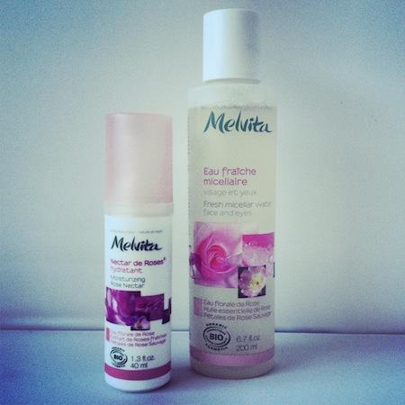 Melvita Rose Micellar Water and Moisturizing Nectar