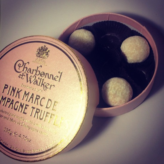 Charbonnel Pink Champagne Truffles