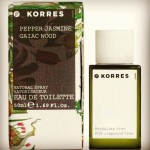 Korres Fragrance: Pepper, Jasmine, Gaiac Wood.