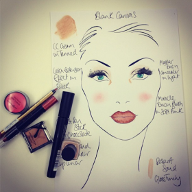 The &#8220;Blank Canvas&#8221; Makeup Look