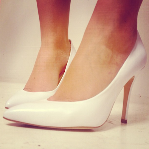 topshop white stiletto heels