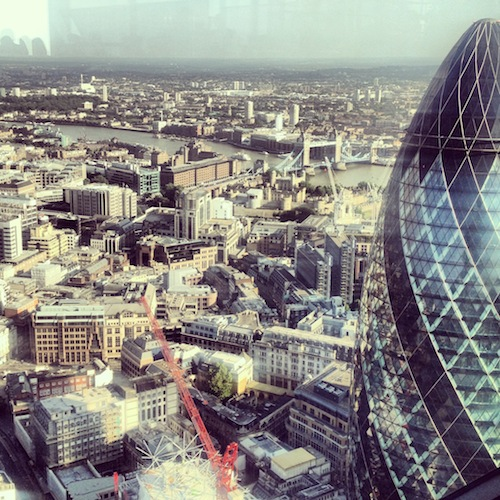 london view heron tower