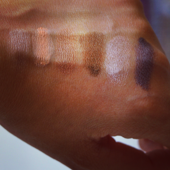 cream shadow swatched