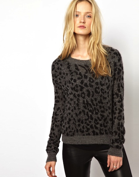kooples winter jumper leopard