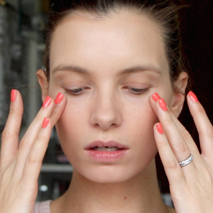 eve lom, clarins, perfect skin makeup look