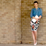 What I'm Wearing: Floral Print Pencil Skirt