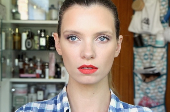 red lips makeup tutorial