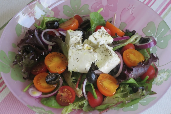 light lunch the classic greek salad a model recommends. Black Bedroom Furniture Sets. Home Design Ideas