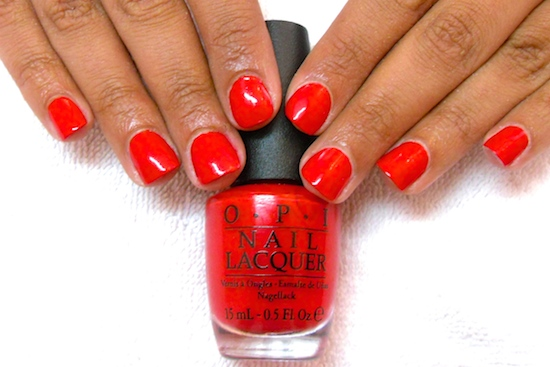 nail manicure bright coca cola red