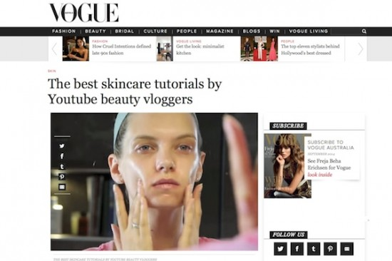A Model Recommends on Vogue Australia