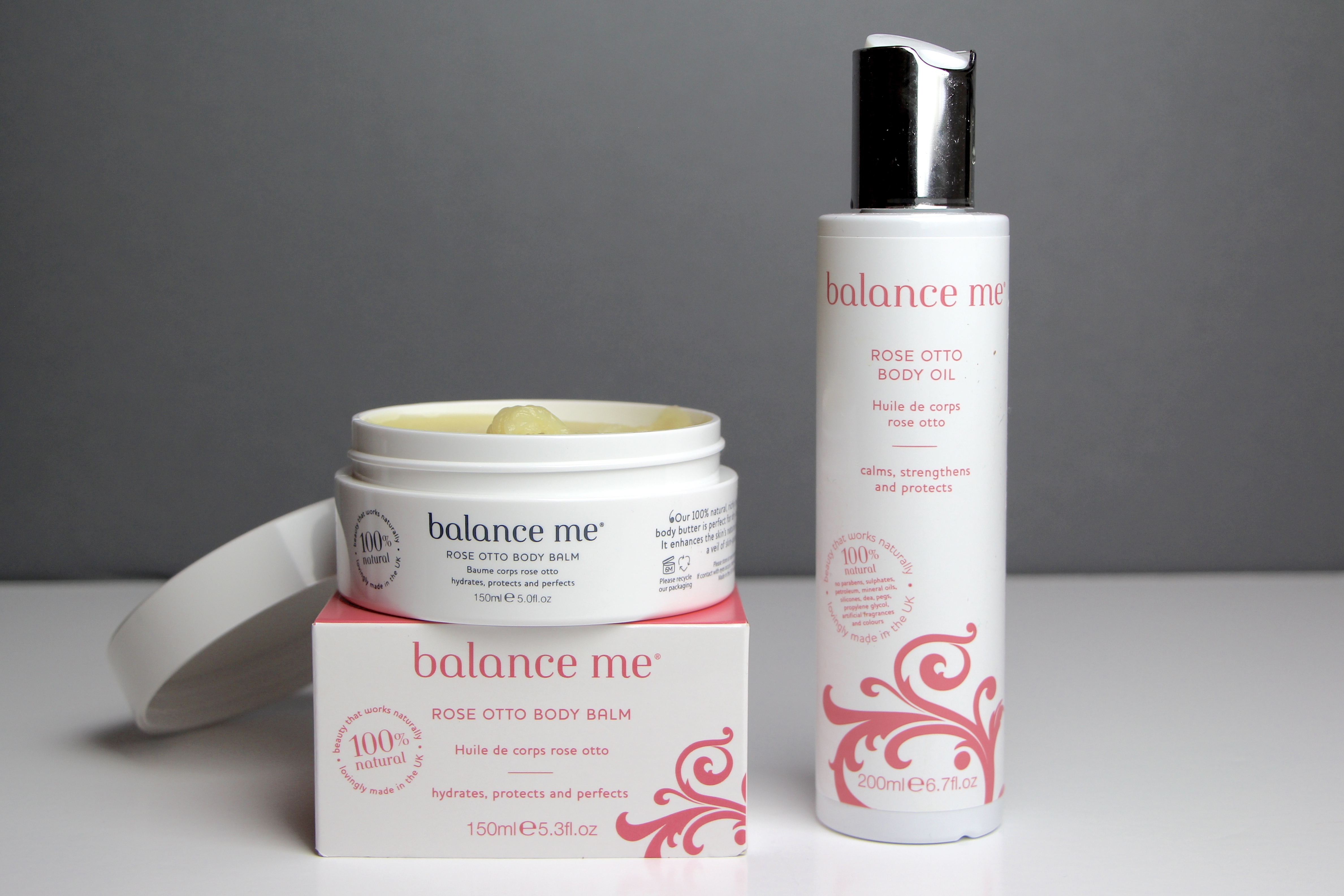 Balance Me Rose Otto Body Oil and Balm Review