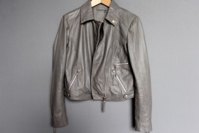 Spring Wardrobe Staples: The Grey Leather Jacket