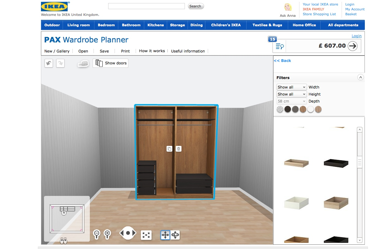 New addiction the ikea pax wardrobe planner a model for Ikea configurador