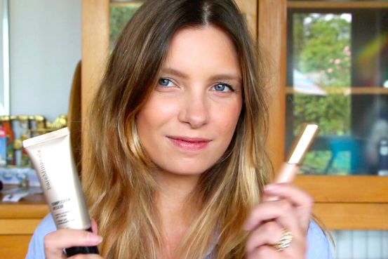 a model recommends new mum beauty