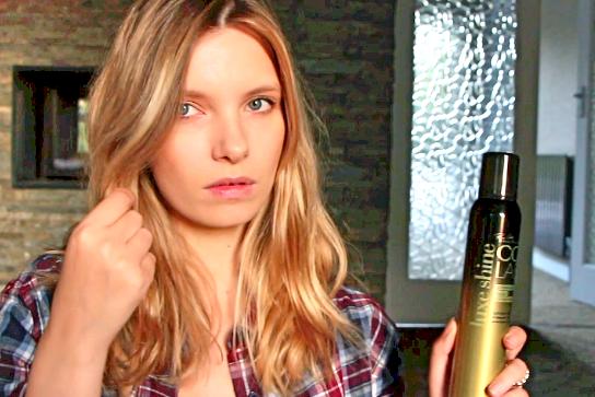 colab luxe shine hair spray