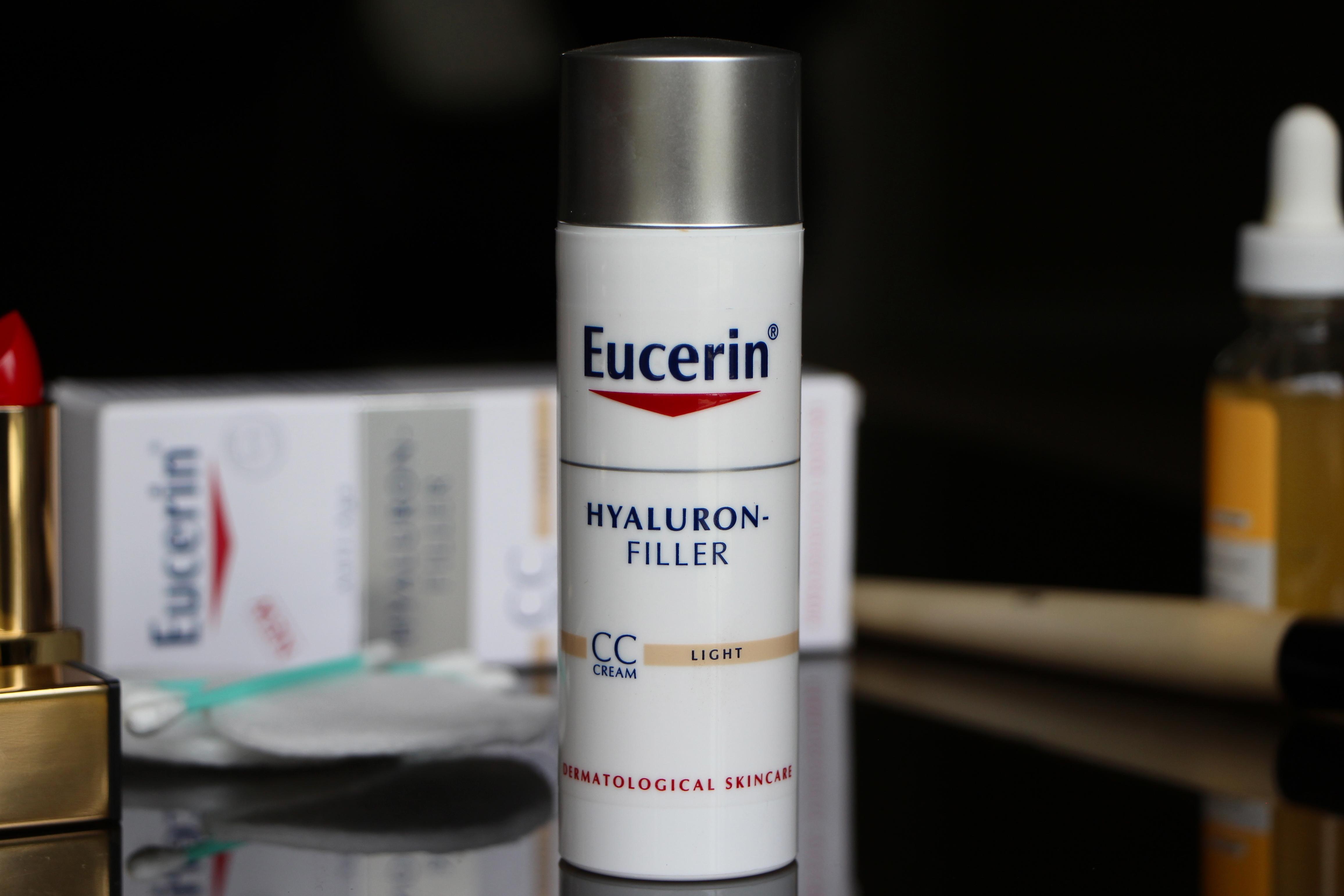 trial eucerin hyaluron filler cc cream ad a model recommends. Black Bedroom Furniture Sets. Home Design Ideas