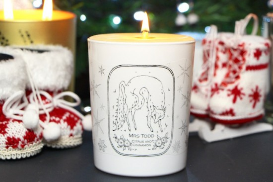 mrs todd christmas candle