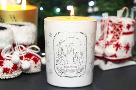 mrs todd christmas candle