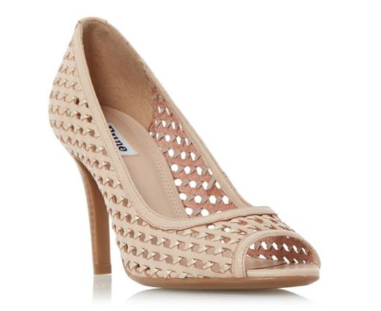 dune claudette woven pumps best nude shoes
