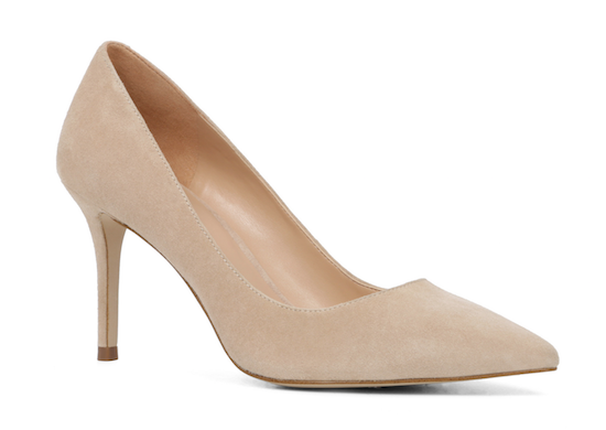 aldo suede pump in bone