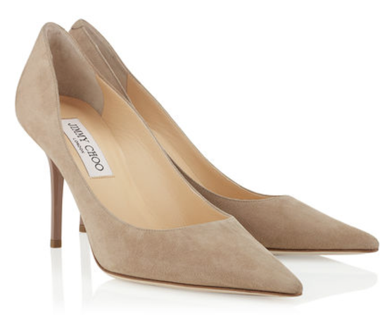 jimmy choo agnes suede pumps best nude shoes