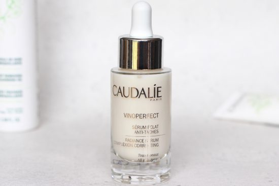 caudalie vinoperfect serum for radiant skin ad a model recommends. Black Bedroom Furniture Sets. Home Design Ideas