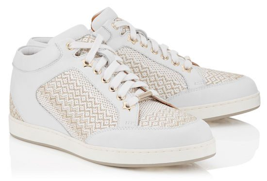 jimmy choo miami woven fabric marble white