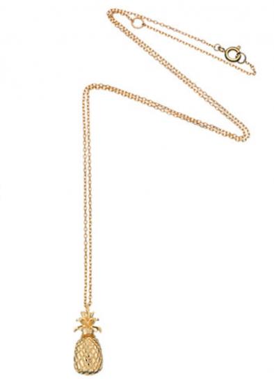 estella bartlett pineapple gold pendant