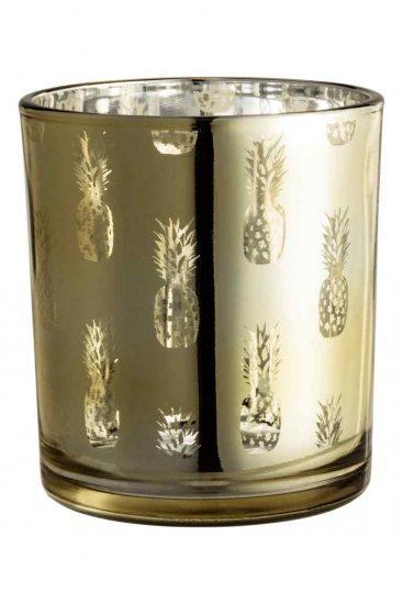 hm tealight holder pineapple