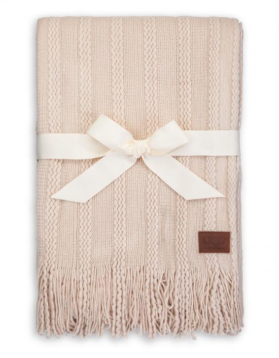 ugg fine cable knit blanket