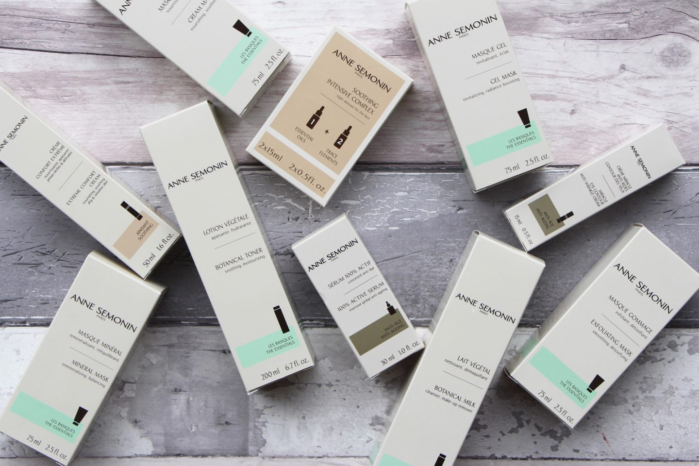 anne semonin luxury skincare products