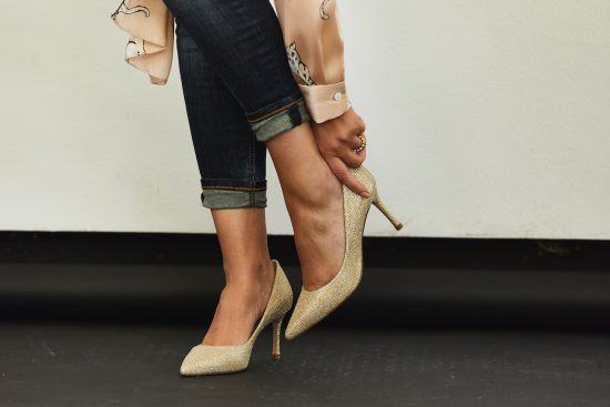 lk bennett glitter court shoe