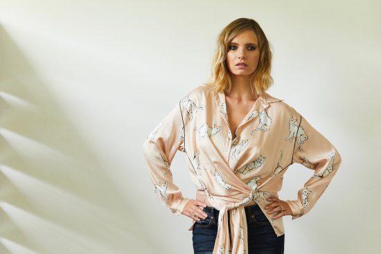 zara cat blouse