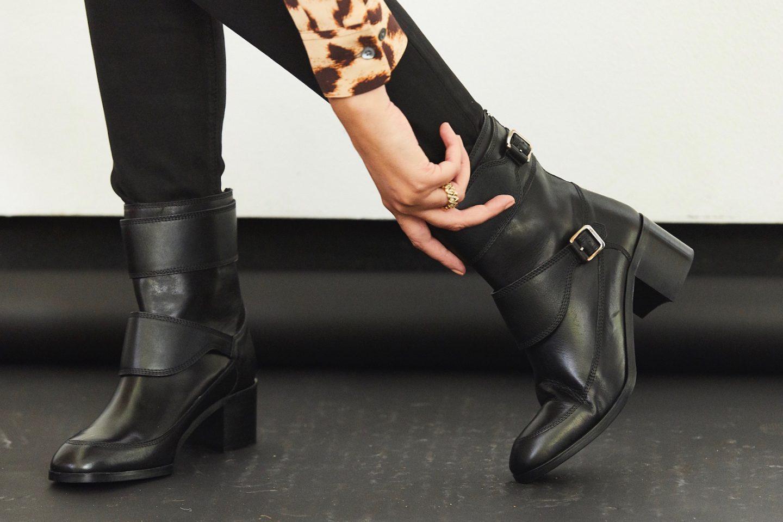 lk bennett black leather boots