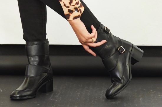 lk bennett black leather boots