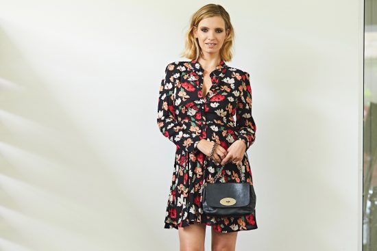zara floral print mini dress