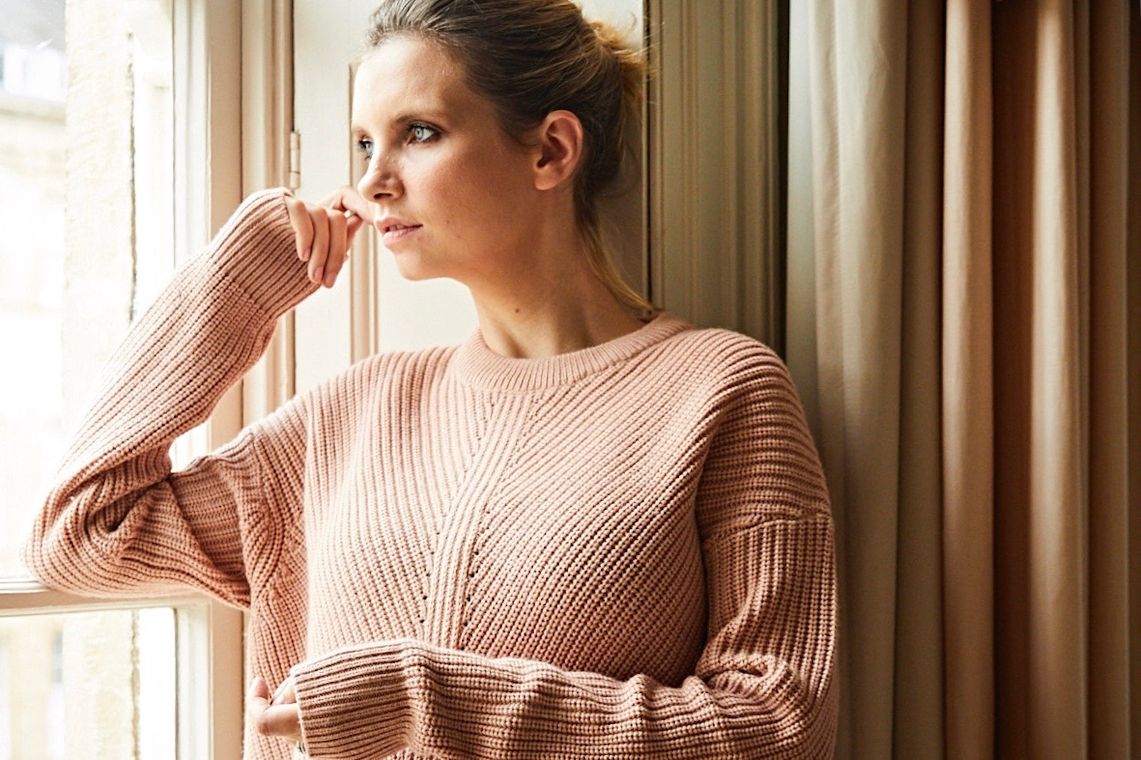and/or lindsey rib stitch sweater