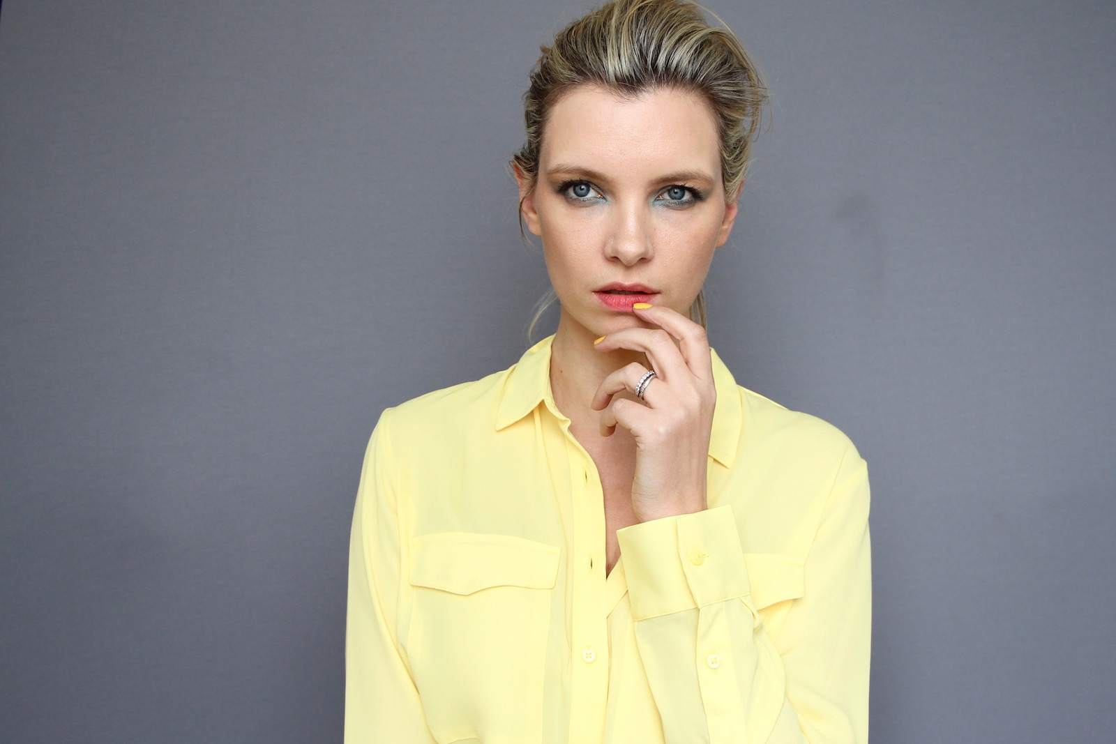 marks and spencer yellow utility shirt