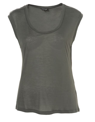 topshop basic shell charcoal